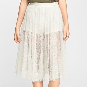 NWT Free People Lacey Culotte beige lace shorts 2